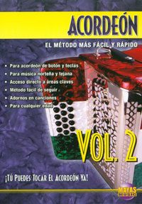 Acordeon Vol. 2, Spanish Only  DVD - taught by Cuco Mendoza and Enrique Martinez