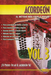Acordeon Vol. 3, Spanish Only  DVD - by Enrique Martinez, taught by Cuco Mendoza