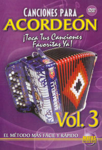 Canciones para Acordeon Vol. 3, Spanish Only  DVD - taught by Cuco Mendoza